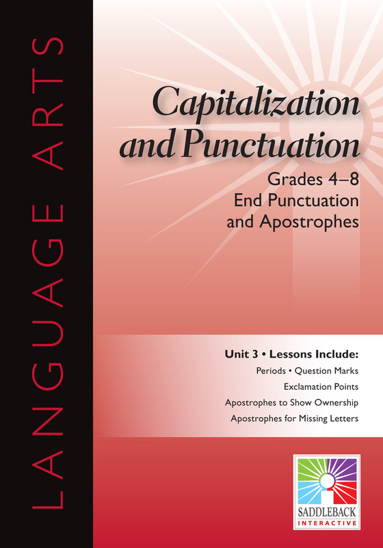 End Punctuation and Apostrophes- Grades 4-8 (Digital Download)