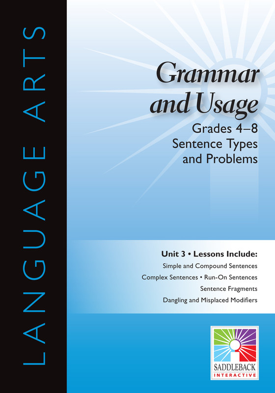 Sentence Types and Problems- Grades 4-8(Digital Download)