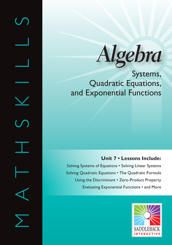 Systems, Quadratic Equations, & Exponential Functions(Digital Download)