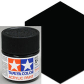 Tamiya Acrylic X-1 Black 3/4 oz Paint