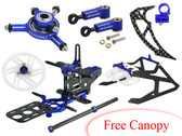 Microheli T-REX 150 DFC CNC Performance X Frame package (BLUE/PURPLE)