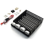 Yeah Racing 1/10 RC Rock Crawler Aluminium Luggage Tray w/4 White Lights YA-0381