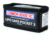 Common Sense Rc LiPo Safe Pocket 3 Charging & Storage Bag Ideal for 2S / 3S