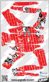 Upgrade RC Red/White Skull Skin / Decal / Sticker 200QX UPG7209