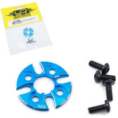 Yeah Racing YA-0482BU Aluminum Spur Gear Support Plate Type-D Blue 1/10 Drift