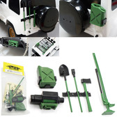 Yeah Racing 1/10 Rock Crawler Accessory ( Axe Shovel Oil Tank Jack Winch Pry )