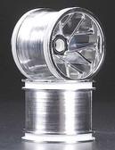 RPM 81853 Slingshot 6-Y Spoke Front Chrome Wheels / Rims For Associated Trucks