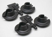 RPM 73152 Spring Cups (Black) 4pcs for Losi Traxxas Associated HPI Shocks