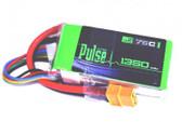 Pulse 4S 14.8V 1350mah 75C LiPo Battery w/ Xt60 Connector : FPV Racer Multirotors