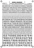 Woodland Scenics 45 Degree USA Gothic RR Numbers Black 1/16-5/16 MG746