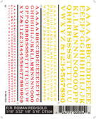 Woodland Scenics RR Roman Red/Gold Decals 1/16-3/16 DT504