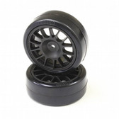 Kyosho FAT306BK Drift Tire Rear 14-Spoke/Black/24mm (2)