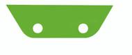 TAIL FIN SQUEEGEE - GREEN - MEDIUM/HARD