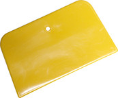 YELLOW BONDO SPREADER SQUEEGEE