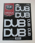 DUB 6-piece decal kit