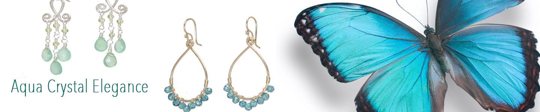 Aqua Chandelier Earrings – Aqua Chandelier Earrings