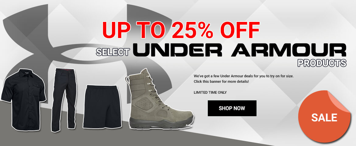 Up to 25% Off Under Armour Products