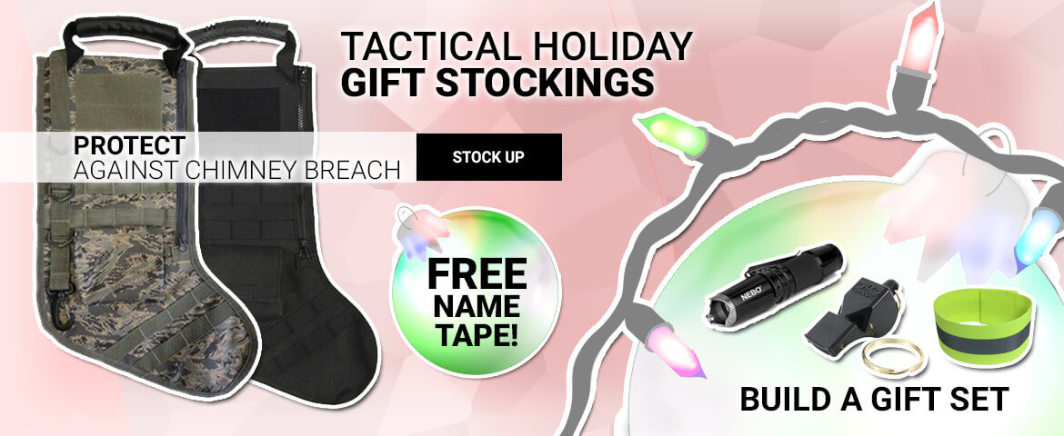 Tactical Holiday Gift Stocking - Free Name Tape!