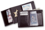Leather Wallet - Recessed Badge Wallet (SF)