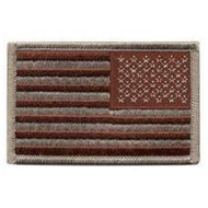American Flag Patch - Embroidered - Desert (Reversed)