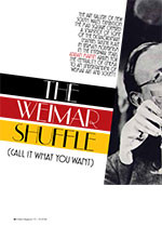 The Weimar Shuffle: (Call It What You Want)