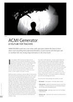 ACMI Generator: A YouTube for Teachers