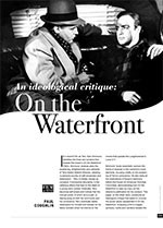 An Ideological Critique: <i>On the Waterfront</i>