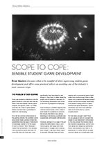 Scope to Cope: Sensible Student Game Development
