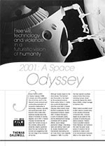 Free Will, Technology and Violence in a Futuristic Vision of Humanity: <i>2001: A Space Odyssey</i>