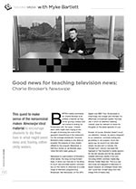 Good News for Teaching Television News: Charlie Brooker? Newswipe