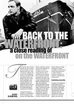 Back to the Waterfront: A Close Reading of <i>On the Waterfront</i>