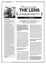 Through the Lens ?Interviews from the Australian Film Theory and Criticism Project: David Boyd
