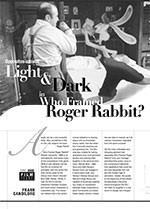 Opposites Attract: Light and Dark in <i>Who Framed Roger Rabbit?</i>