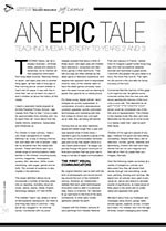 An Epic Tale: Teaching Media History to Years 2 and 3