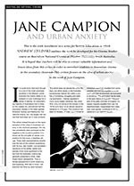 Jane Campion and Urban Anxiety
