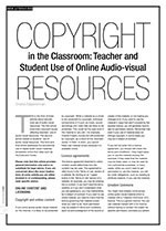 Copyright in the Classroom: Teacher and Student Use of Online Audio-visual Resources
