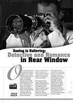 Seeing is Believing: Detective and Romance in <i>Rear Window</i>