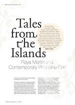 Tales from the Islands: Raya Martin and Contemporary Philippine Film