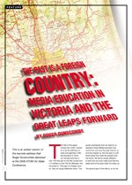 The Past is a Foreign Country: Media Education in Victoria and the Great Leaps Forward