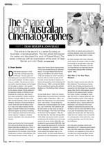 The Shape of Light ?Australian Cinematographers: Part Two: Dean Semler; John Seale