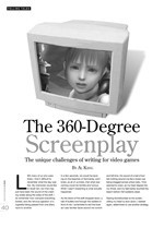 The 360-Degree Screenplay: The Unique Challenges of Writing for Video Games