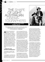 The Shape of Light ?Australian Cinematographers: Part One: Setting the Scene; Russel Boyd