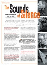 The Sounds of Silence: An Interview with Rolf de Heer