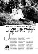 <i>Picnic at Hanging Rock</i> and the Puzzle of the Art Film