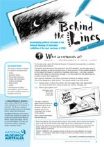 Behind the Lines ?Investigating political cartoons
