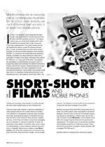 Short-Short Films and Mobile Phones