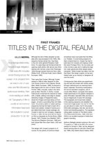 First Frames: Titles in the Digital Realm