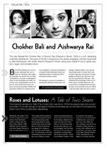 Roses and Lotuses: A Tale of Two Sisters, Chokher Bali and Aishwarya Rai