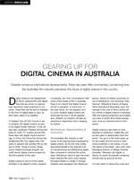 Gearing Up for Digital Cinema in Australia