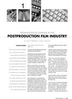 Technological Change in the Postproduction Film Industry: A Victorian Case Study